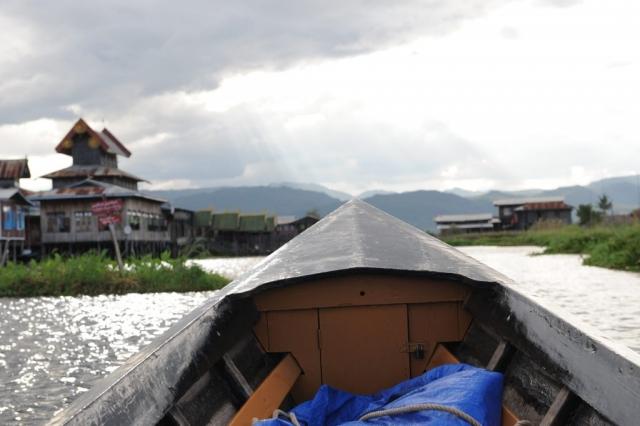 Into Town Inle Lake Burma Myanmar