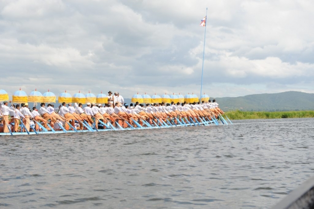 Procession on Inle Lake