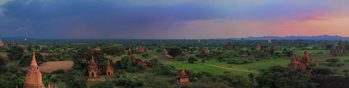 Looking over 3000 Stupas in Bagan at Sunset