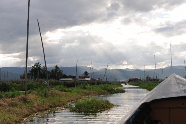 Boat Ride Inle Lake Burma Myanmar