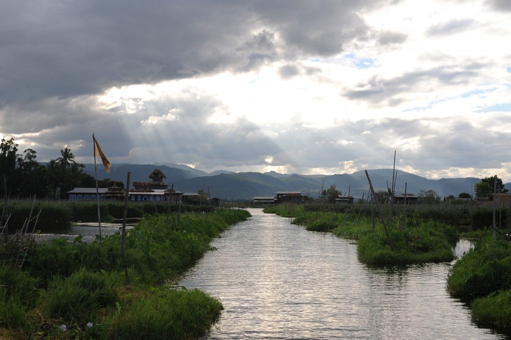 Riding into the sunset in Inle Lake