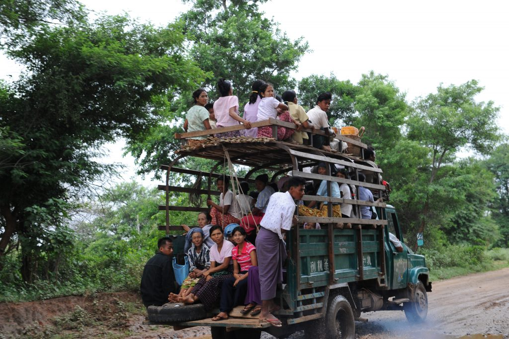 Local Bus on Way to Inle Lake