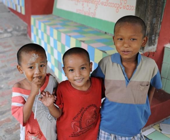 Smiling Kids in Myanmar