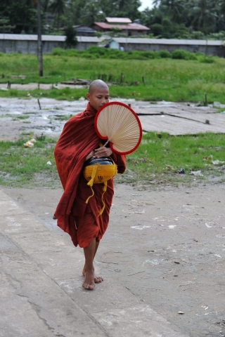 Monk on the Road to Mandalay
