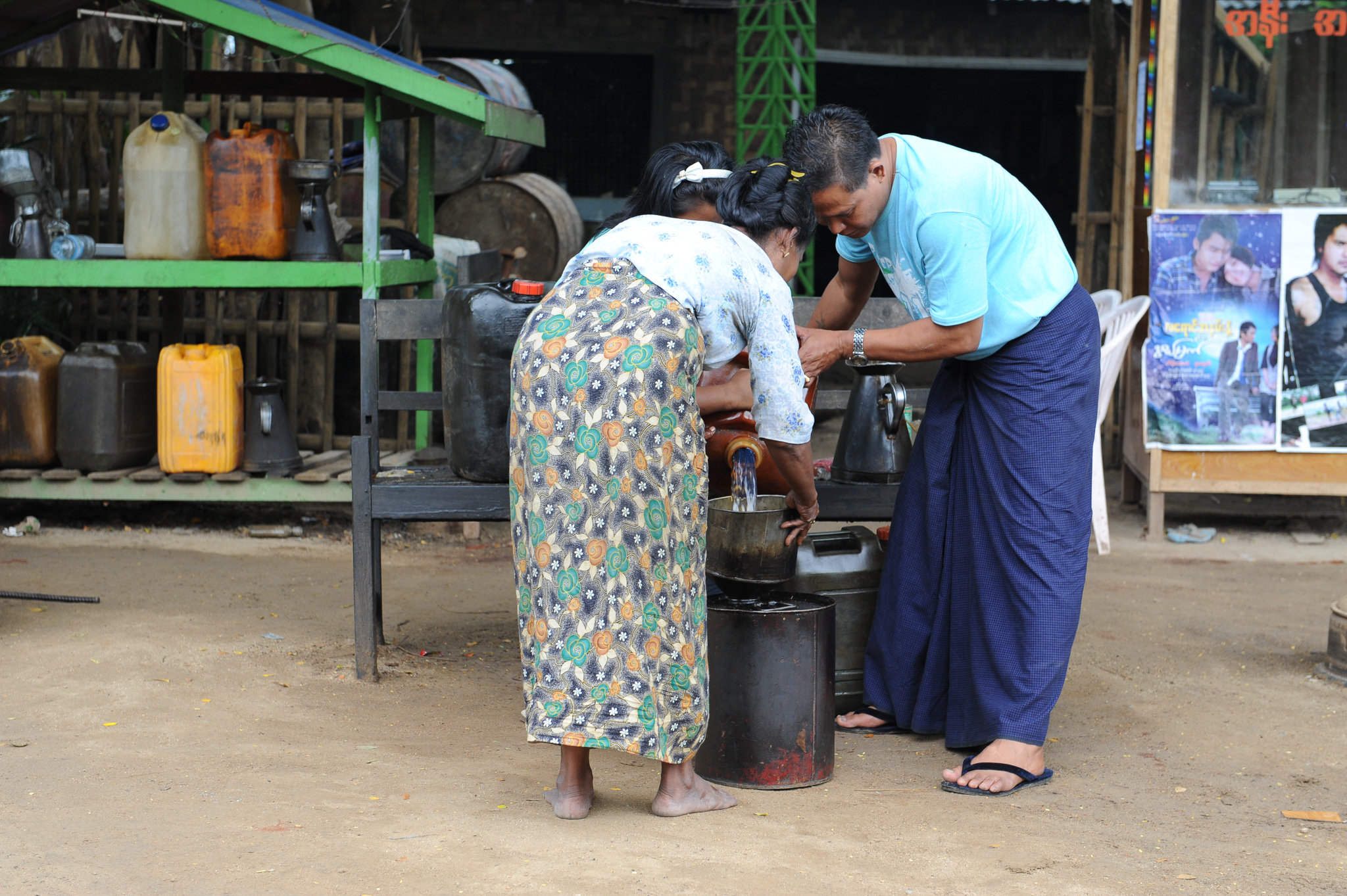 Myanamar Gas Station
