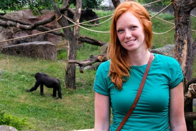 Erika at Gorilla Exhibit