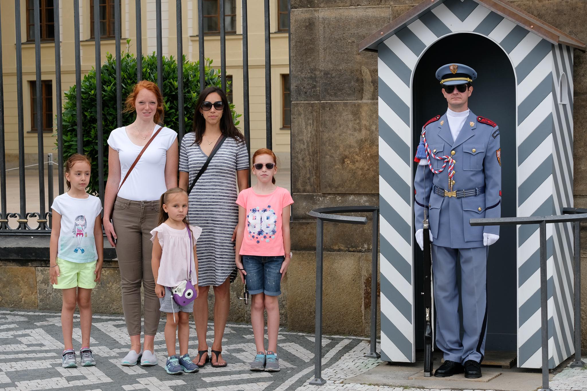Girls with a Prague Castle Gaurd