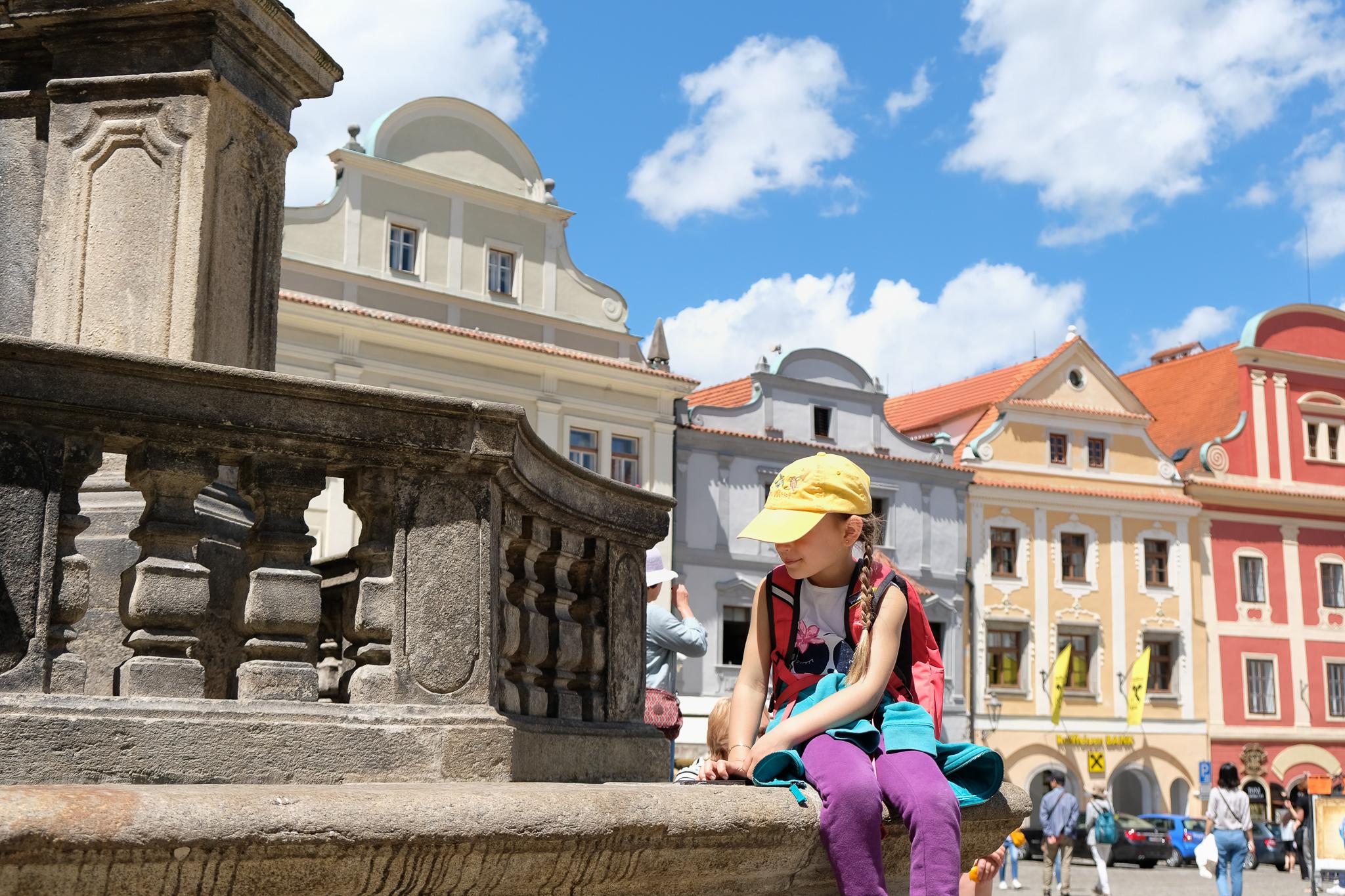 Svornosti Square in Cesky Krumlov