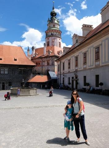 Courtyard of Cesky Krumlov Castle