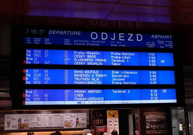 Ticker Board at Rail Station