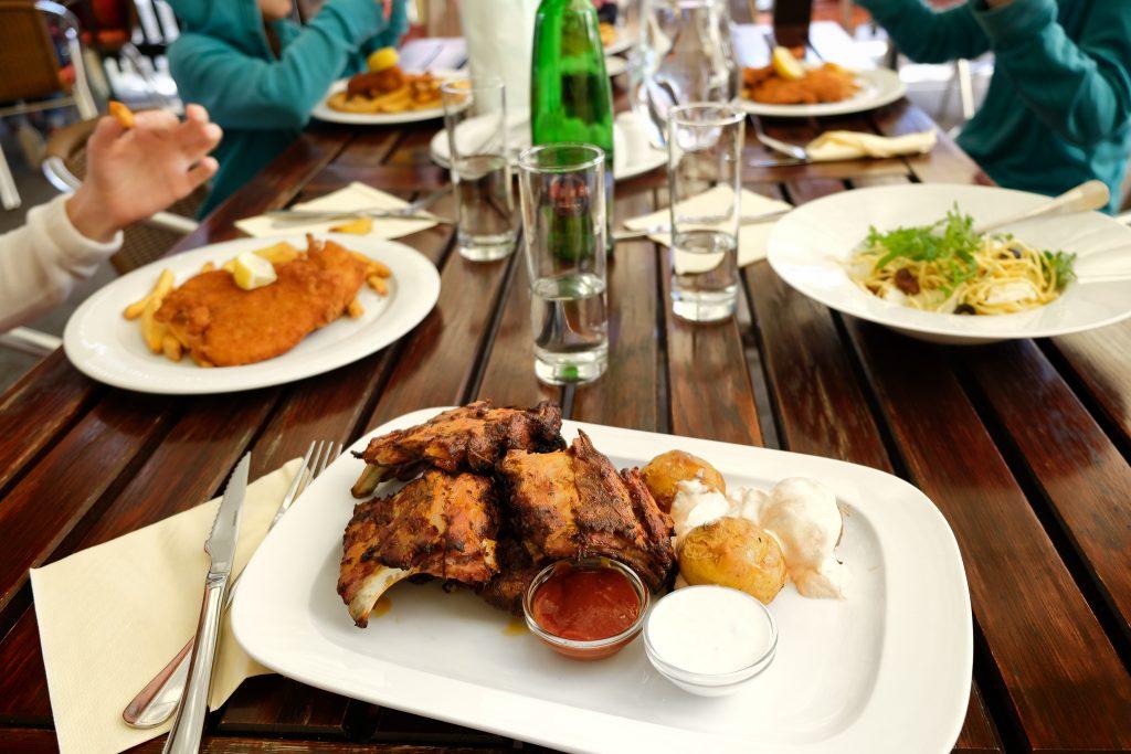 Lunch in Cesky Krumlov