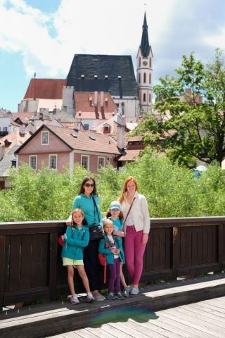 Bridge Crossing at Cesky Krumlov